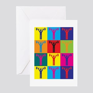 Weight Lifting Pop Art Greeting Cards (Pk of 20)