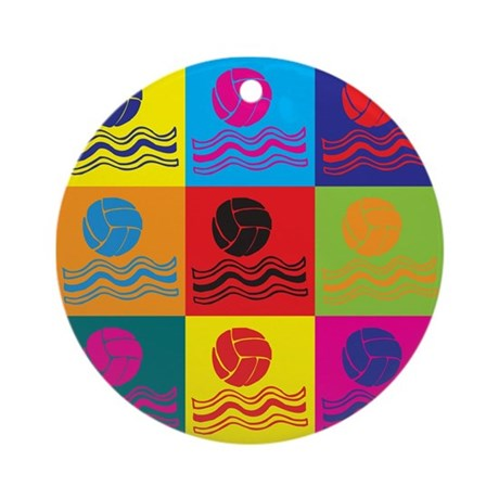 Water Polo Pop Art Ornament (Round)