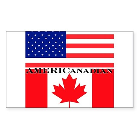 AMERICanadian Rectangle Sticker