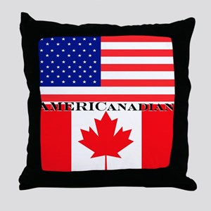 AMERICanadian Throw Pillow