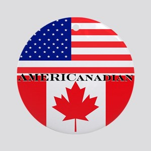 AMERICanadian Ornament (Round)