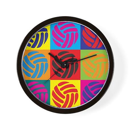 Volleyball Pop Art Wall Clock