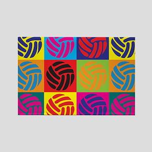Volleyball Pop Art Rectangle Magnet