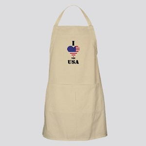 I Love The USA BBQ Apron