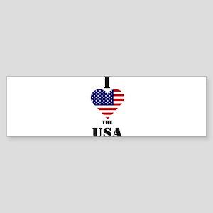 I Love The USA Bumper Sticker