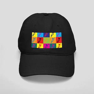 Trombone Pop Art Black Cap