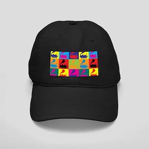 Trains Pop Art Black Cap