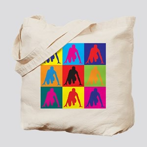 Track Pop Art Tote Bag