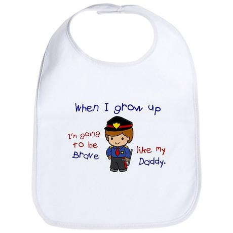 Brave Like My Daddy 1 (Police Officer) Bib