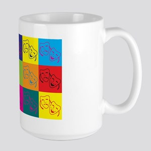 Theater Pop Art Large Mug