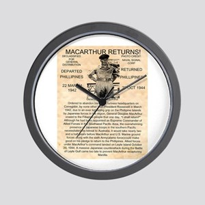 General Douglas MacArthur Wall Clock