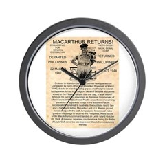 General Douglas MacArthur Wall Clock