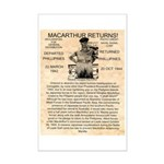 General Douglas MacArthur Mini Poster Print