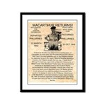 General Douglas MacArthur Framed Panel Print