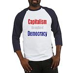 Capitalism the engine of Democracy Baseball Jersey