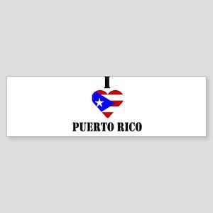 I Love Puerto Rico Bumper Sticker