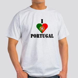 I Love Portugal Ash Grey T-Shirt