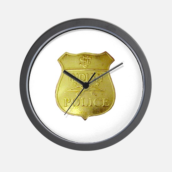 U S Indian Police Wall Clock