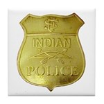 U S Indian Police Tile Coaster