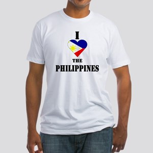 I Love The Philippines Fitted T-Shirt