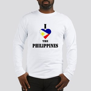 I Love The Philippines Long Sleeve T-Shirt