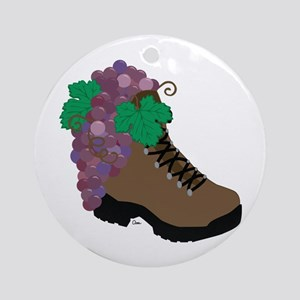 Sporty Wine Lover Ornament (Round)