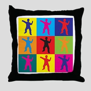 Tai Chi Pop Art Throw Pillow