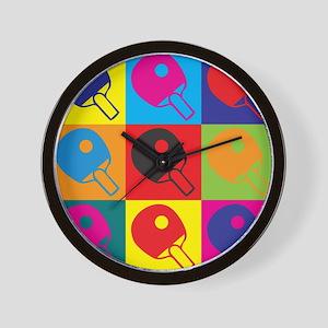 Table Tennis Pop Art Wall Clock