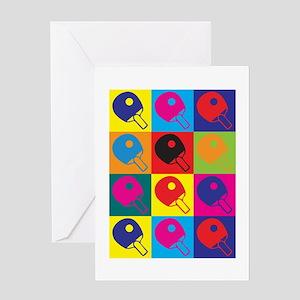 Table Tennis Pop Art Greeting Card