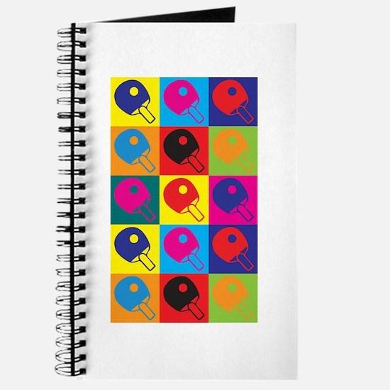 Table Tennis Pop Art Journal