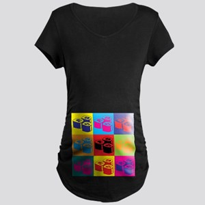 Sushi Pop Art Maternity Dark T-Shirt