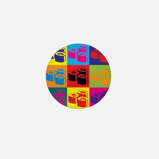Sushi Pop Art Mini Button
