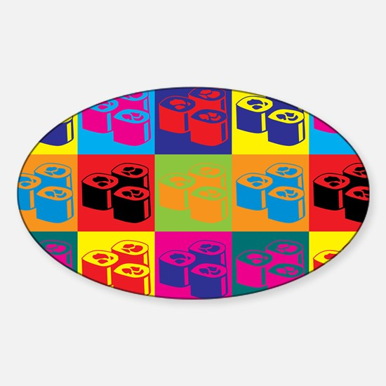 Sushi Pop Art Oval Decal