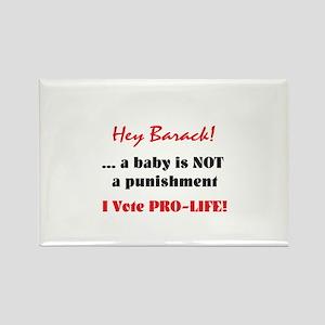 Hey Barack - baby Rectangle Magnet