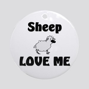 Sheep Love Me Ornament (Round)