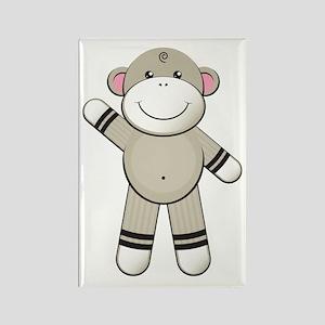 Hello Sock Monkey Rectangle Magnet