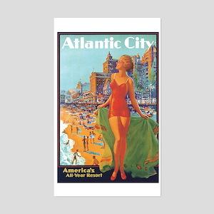 Atlantic City NJ Rectangle Sticker