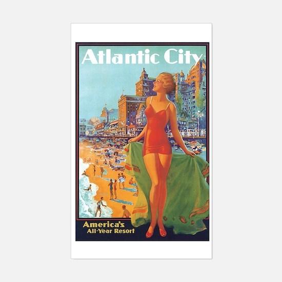 Atlantic City NJ Rectangle Decal
