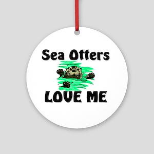 Sea Otters Love Me Ornament (Round)