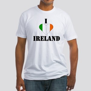 I Love Ireland Fitted T-Shirt