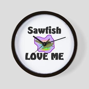 Sawfish Love Me Wall Clock