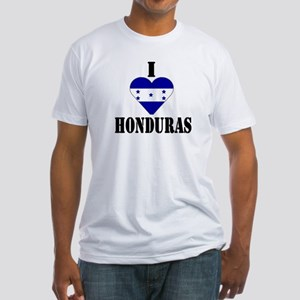 I Love Honduras Fitted T-Shirt