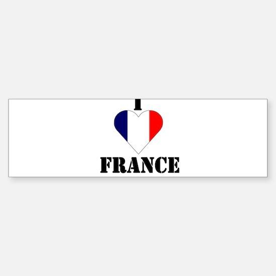 I Love France Bumper Bumper Bumper Sticker