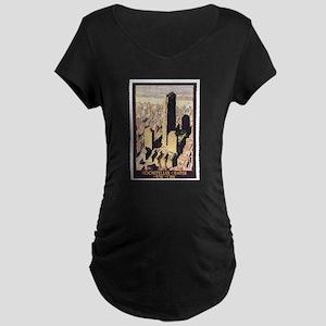 Rockefeller Center NYC Maternity Dark T-Shirt