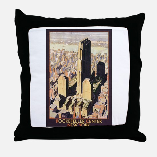 Rockefeller Center NYC Throw Pillow