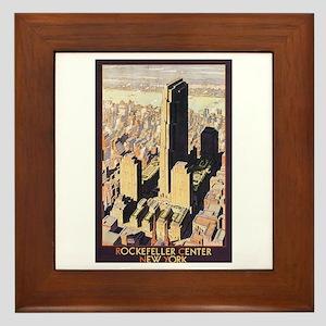 Rockefeller Center NYC Framed Tile