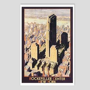 Rockefeller Center NYC Postcards (Package of 8)