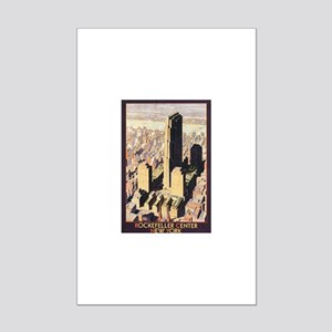Rockefeller Center NYC Mini Poster Print