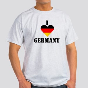 I Love Germany Ash Grey T-Shirt