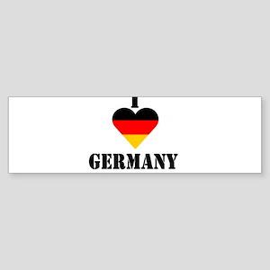 I Love Germany Bumper Sticker